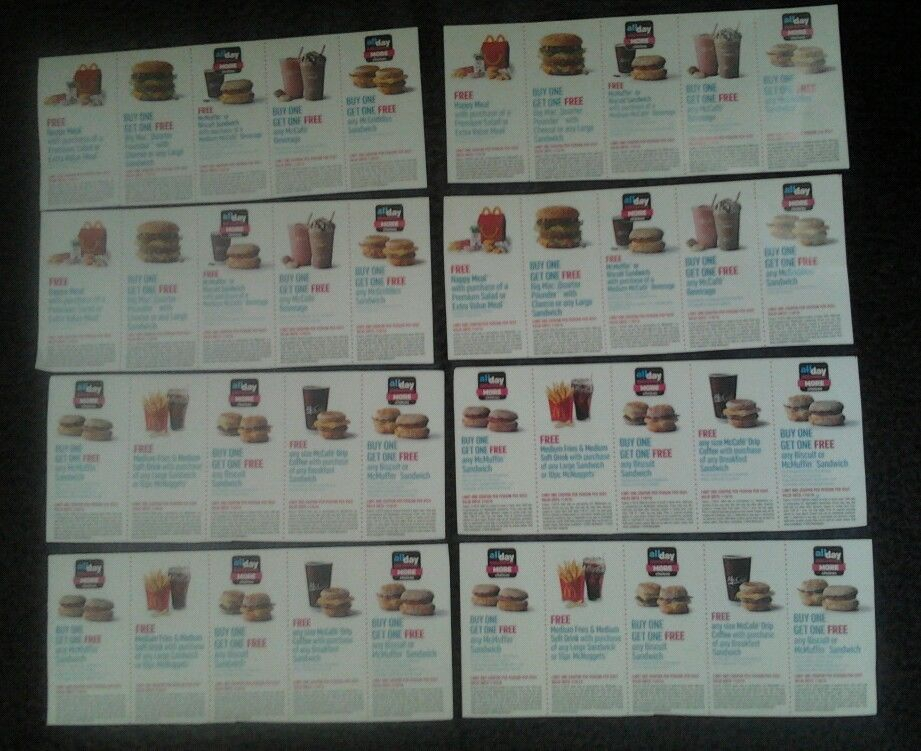 40 McDonalds lover coupons (4 sheets/books) deals offers savings exp11/6/16
