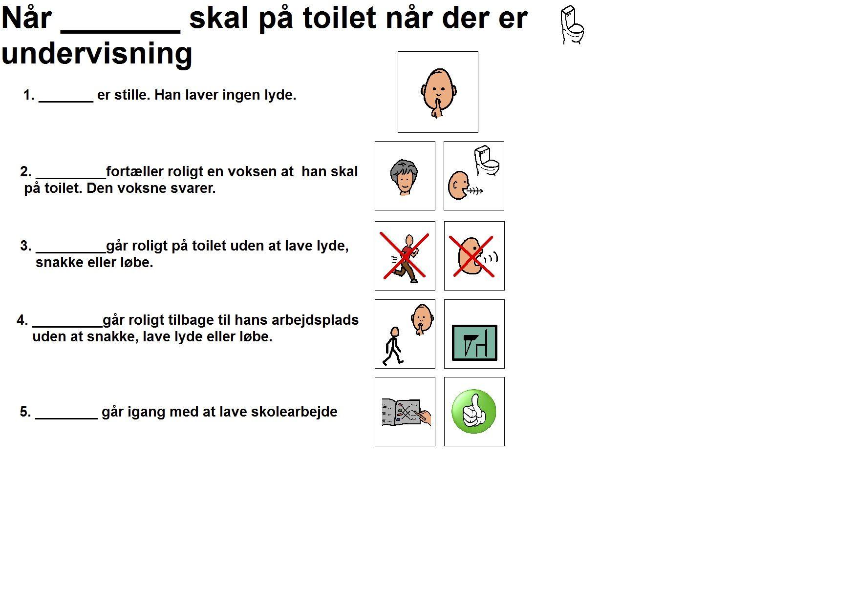 Pa Toilet I Undervisnings Tiden Undervisning Skole Stil