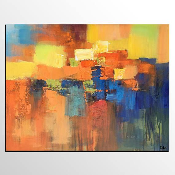 Large Painting, Modern Art, Original Painting, Canvas Art, Abstract ...