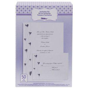 Walmart Wilton Invitation Kit Silver Heart Vine 50 Count Invitation Kits Invitations Wilton