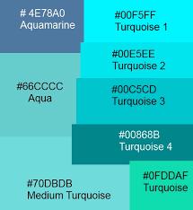 Aqua Turquoise Teal