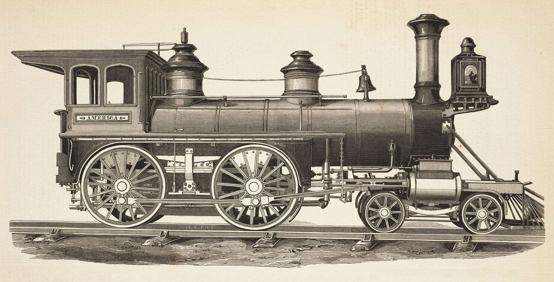 1867 4-4-0 Locomotive America, Grant Locomotive Works, for ...