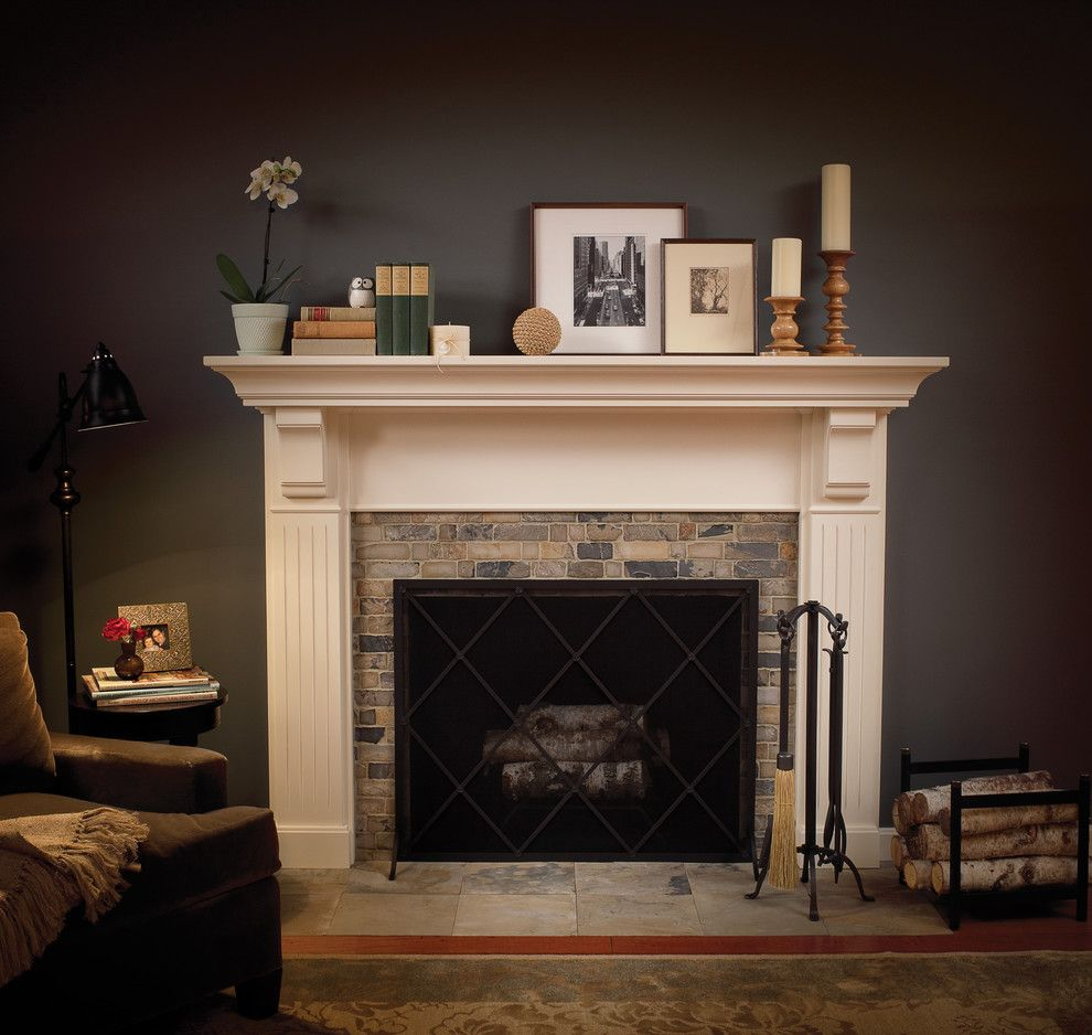 Traditional Spaces Tile Fireplace Surround Design, Pictures ...