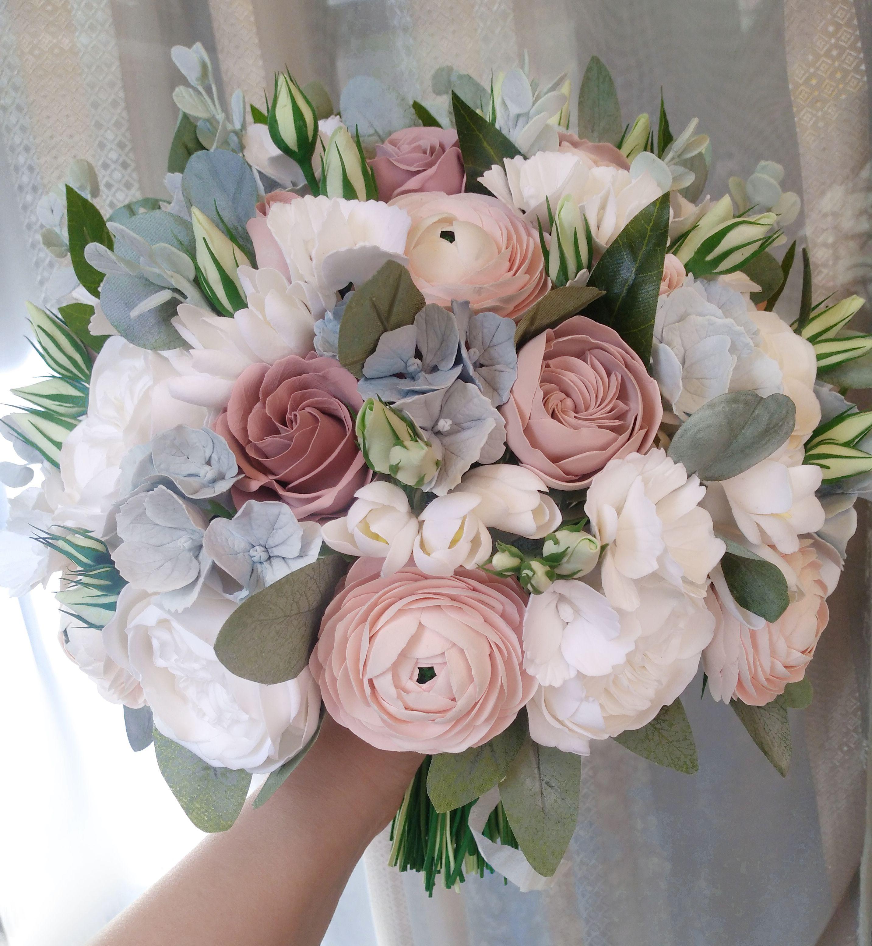 Dusty Rose Wedding Bouquet Soft Pink Ranunculus Peony Etsy Flower Bouquet Wedding Dusty Rose Wedding Garden Rose Bouquet Wedding