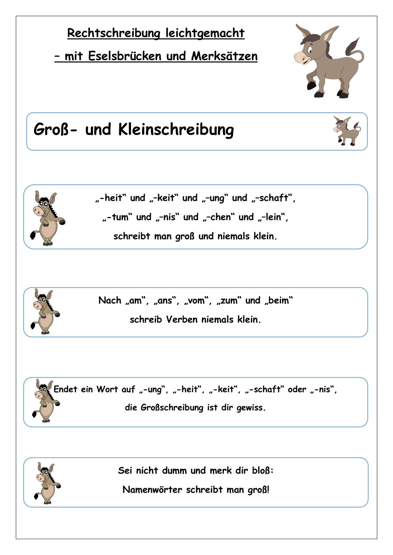 Rechtschreibung leichtgemacht- 32 Eselsbrücken