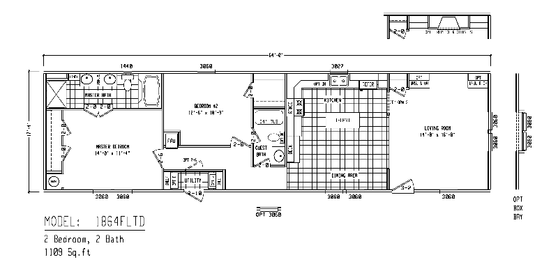 Mobile Home Blueprints 3 Bedrooms Single Wide 71 | Clayton Mobile ...