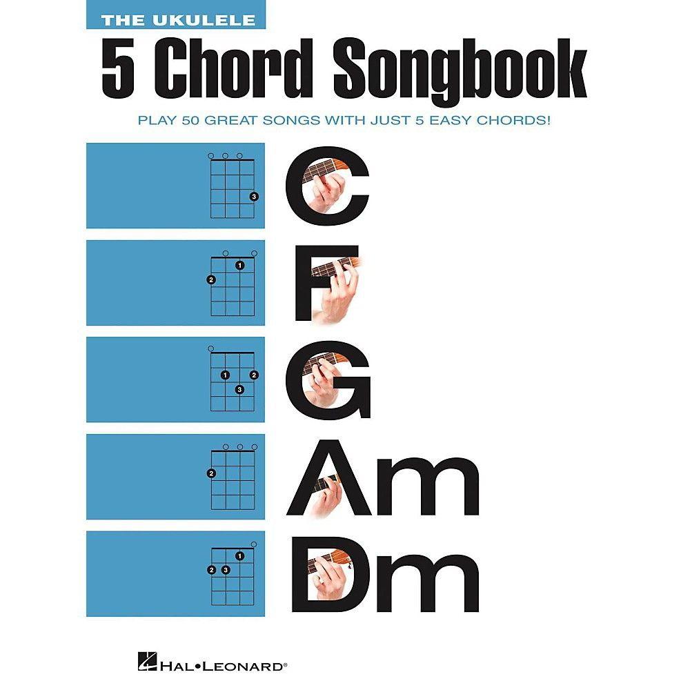 Hal Leonard The Ukulele 5 Chord Songbook C F G Am Dm Ukulele