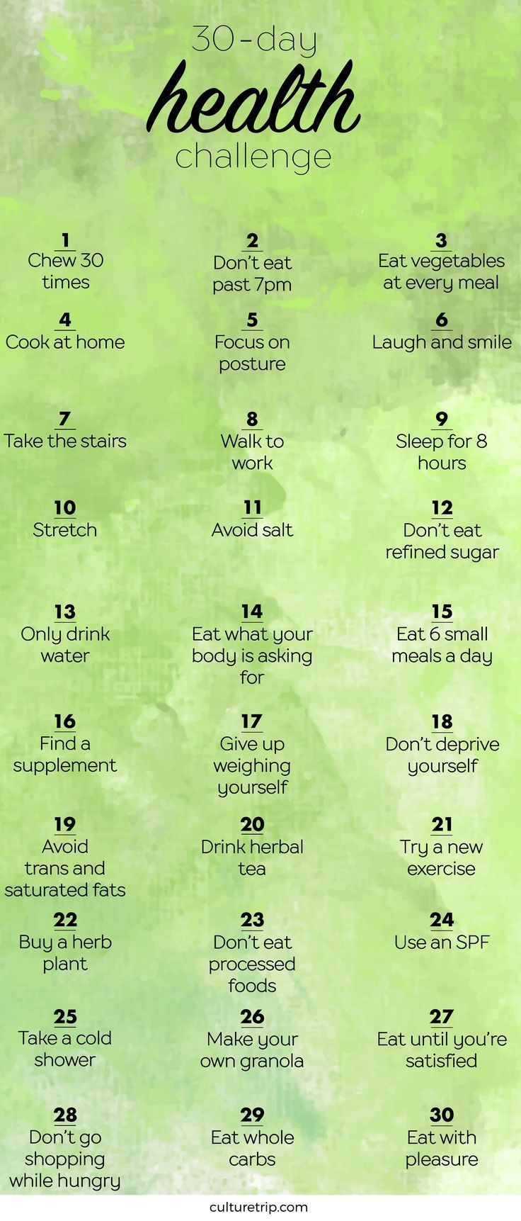 The 30-Day Health Challenge #fitnessvideos
