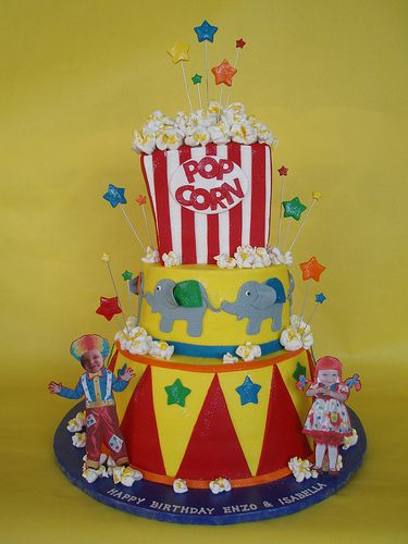 CircusCarnival Themed Birthday Cake Carnival cakes Cake and