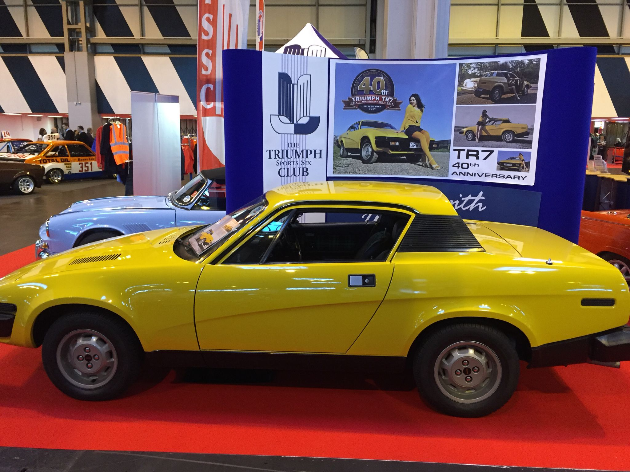 Triumph TR On The TSSC Stand At The NEC Classic Car Show Triumph - Car show wheel stands