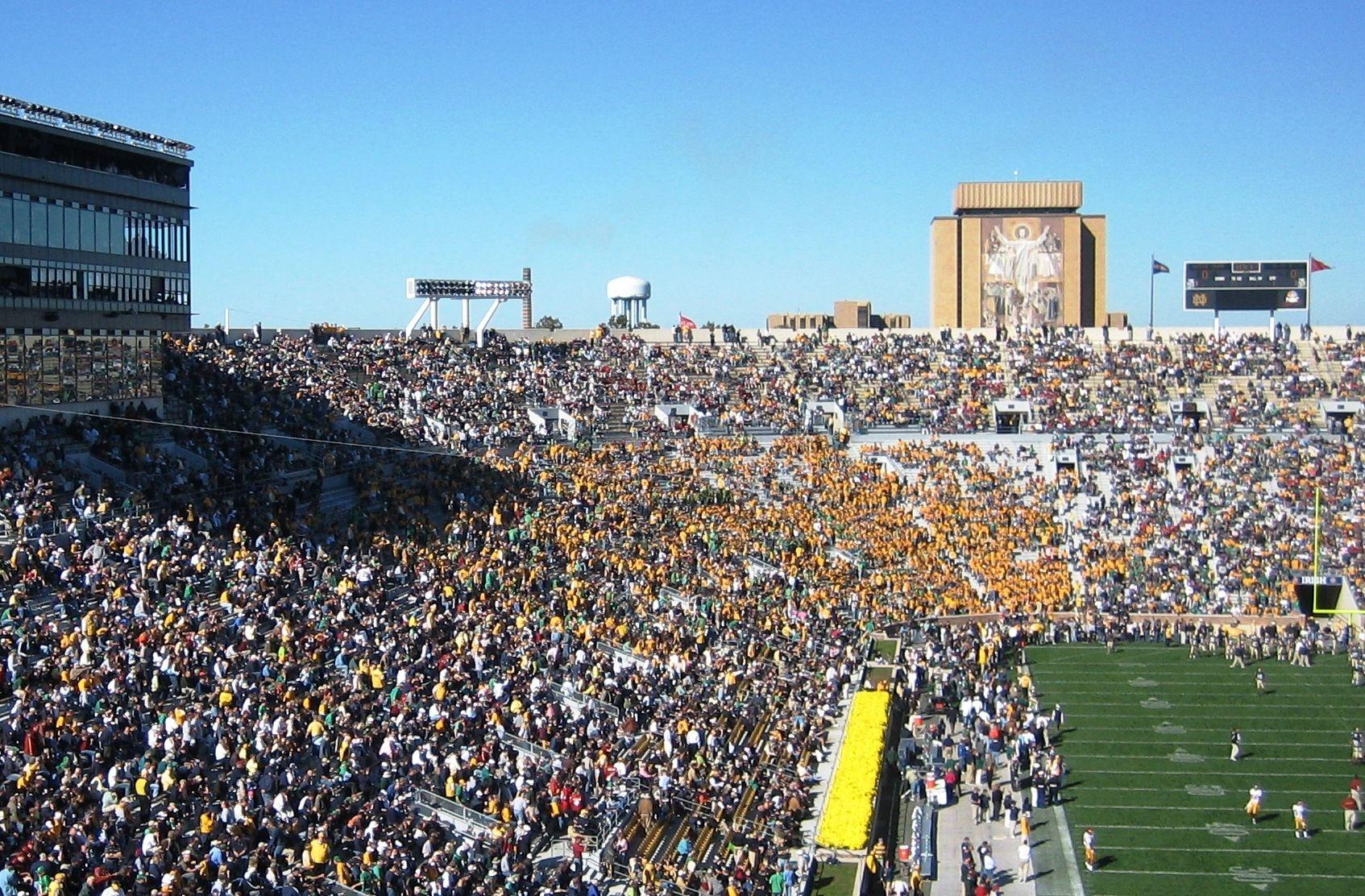 Notre Dame Stadium Wall Mural