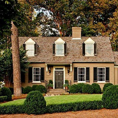 Exterior Accent Color For Yellow Brick Cape Cod Style 39 House Looks Amazing Because They