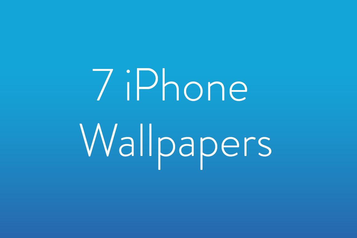 7 iPhone Wallpapers by Nathan Holland on @creativemarket