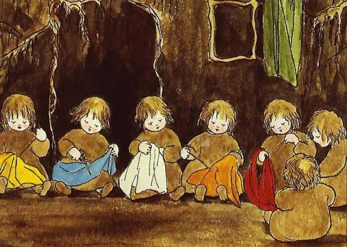 """These adorable illustrations are from the                    book, """"The Story of the Root-Children"""", by                    Sibylle Von Olfer..."""