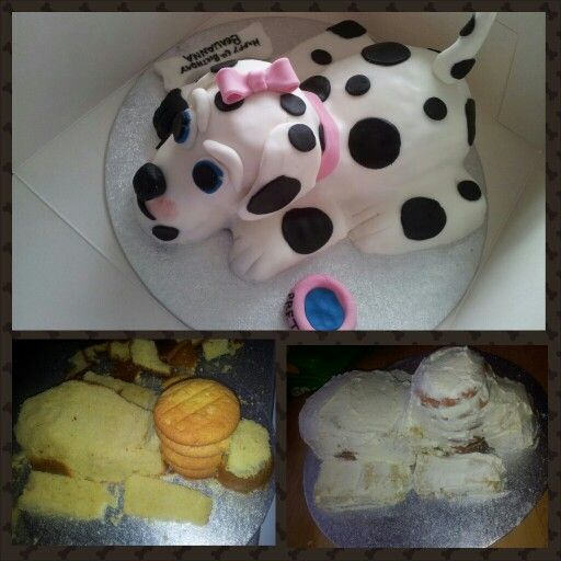 The Easy Way To Make A Dog Shaped Cake Cake Ideas Pinterest how