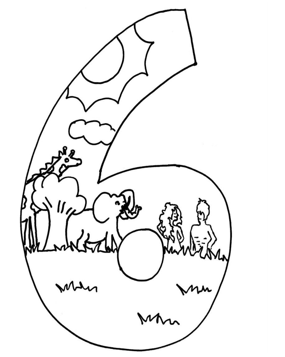 First Day Of Creation Coloring Page | Top Free Printable ...