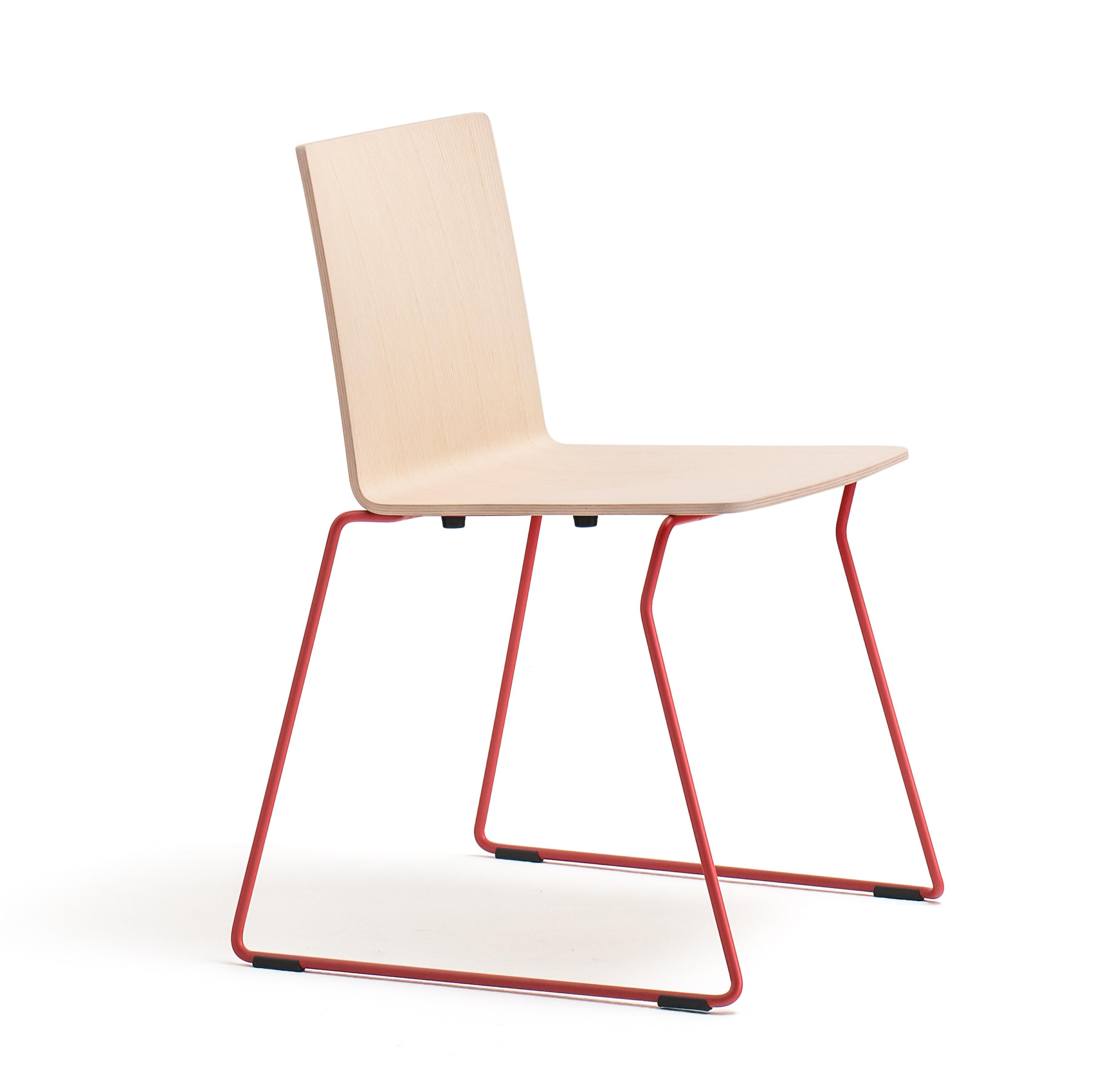 Osaka Metal Chair, With Ash Plywood Shell And Steel Rode Sled Frame,  Features The Functionality Of The Collection. The Outcome Is A Great  Ergonomics And An ...