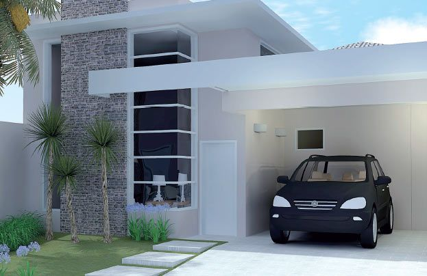 12 modelos de fachadas de casas simples house smallest for Estilos de fachadas de casas