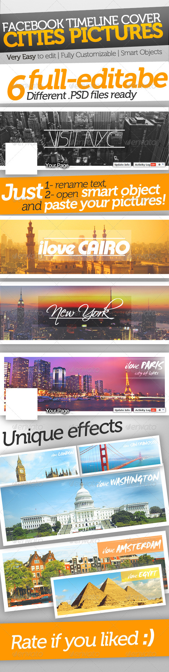 World Cities Facebook Timeline Covers   #GraphicRiver          World Cities Facebook Timeline Covers     Timeline Size 851×315px  Fully-Customizable.  Easy-Editable.  Organized Layers.  Easy-Editable. Smart Objects, just open smart object and paste your picture. Photos in preview are not included in main file.   851×315px.     Fonts download links:     .dafont /scriptina.font   .fonts101 /fonts/view/Uncategorized/34727/Plain_Cred_1978   .fontpalace…