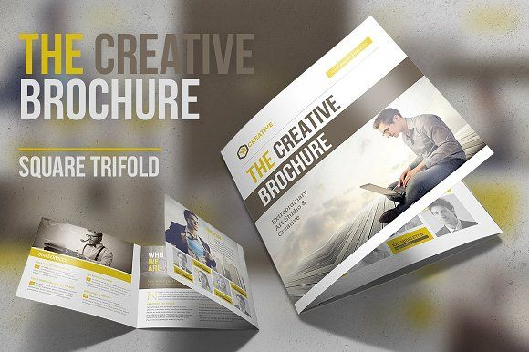 The Creative Brochure Square Fold Brochures Brochure - Creative brochure templates