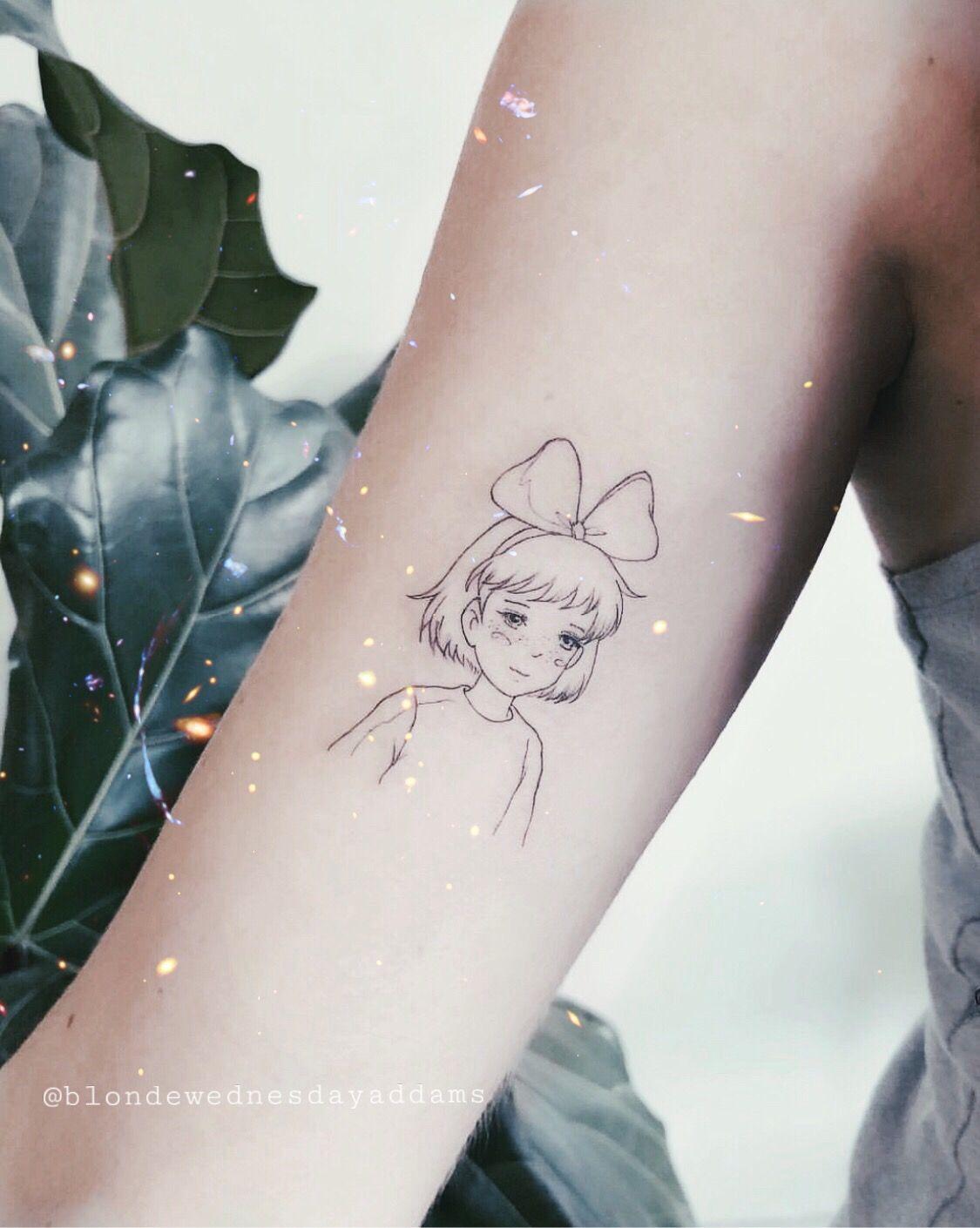 Studio Ghibli Tattoo Kiki S Delivery Service Small Ghibli Tattoo Kiki Tattoo Ghibli Tattoo Geometric Tattoo Tattoos For Guys