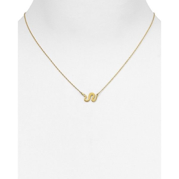 Jennifer Zeuner Alves Snake Pendant Necklace, 14 ($185) ❤ liked on Polyvore featuring jewelry, necklaces, gold, yellow gold necklace, jennifer zeuner necklace, snake necklace, jennifer zeuner jewelry and gold jewellery