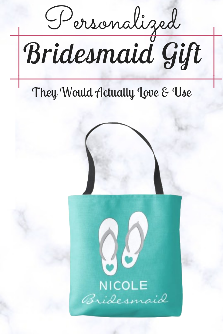 c2f2a16fa0d9f Gift your bridesmaid a gift they can actually use. A personalized tote bag  is perfect for the beach