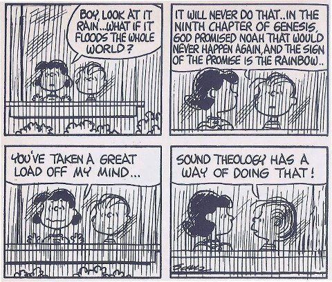 Linus On The Biblical Flood And God S Promise Christian Comics Christian Humor Theology