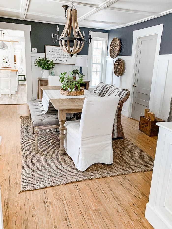 Flow of Home Tour - Today I'm showing you more how our rooms flow from   one to another. #hometour #farmhousestyle #homedecor #blogger