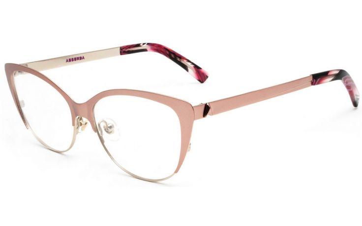 e7fbd430dc68a absurda la lucila oculos de grau rosa e dourado fosco 2566 267 55 1 ...
