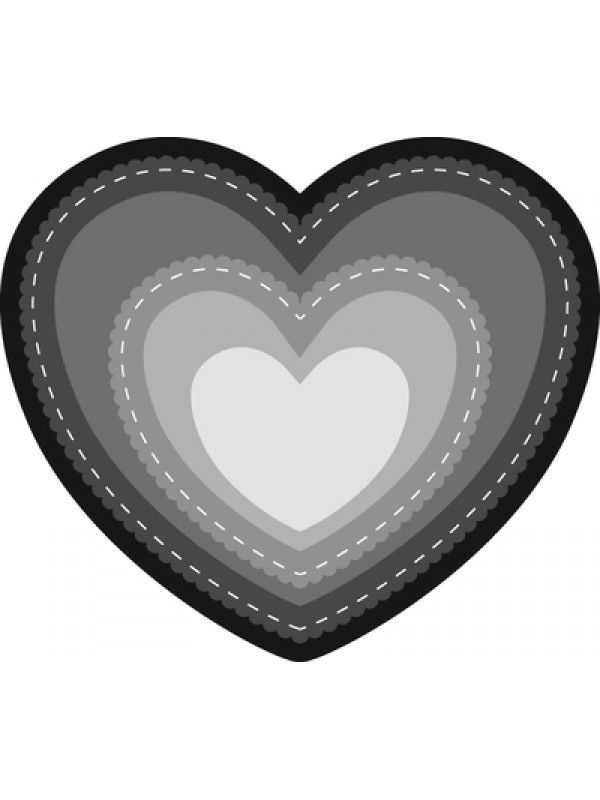 Marianne Design Craftables Heart A new shape in the basic range. 6 pieces: largest die: 110 x 96 mm