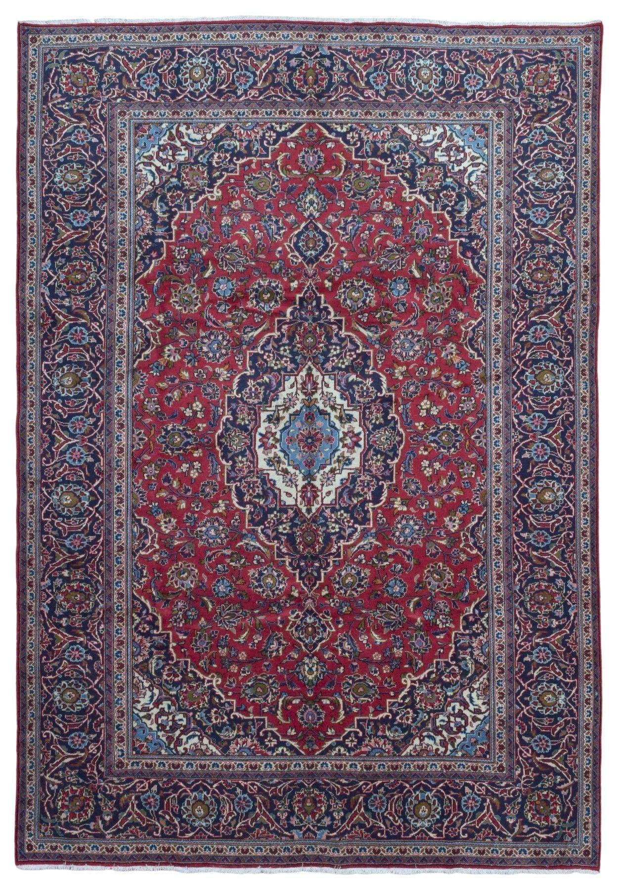 Semi-Antique Persian Kashan Oriental Rug 8X11'6