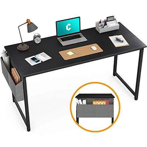 """Cubiker Writing Computer Desk 39 """"Home Office-Schreibtisch, moderner, einfacher Laptop-Tisch mit Aufbewahrungstasche, schwarz"""