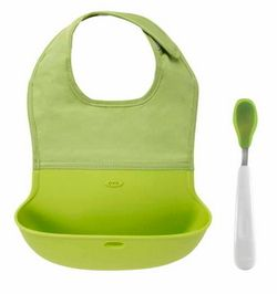 OXO Tot On-The-Go Roll Up Bib & Spoon Set $26.99 - from Well.ca