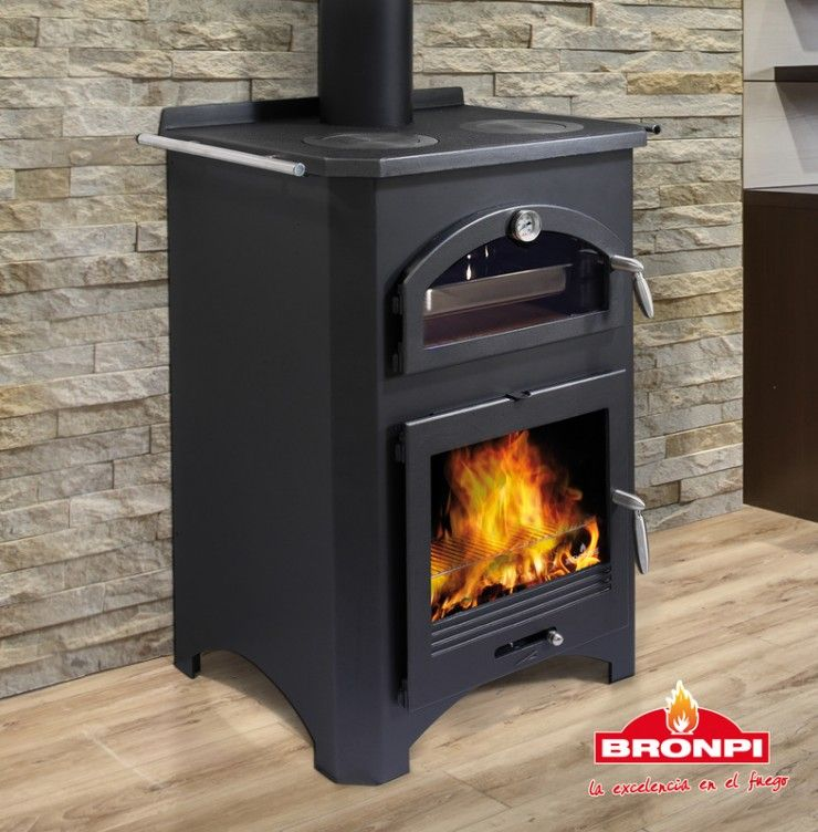 Bronpi Monza Wood burning stove with Oven & Hotplate | Ar ...