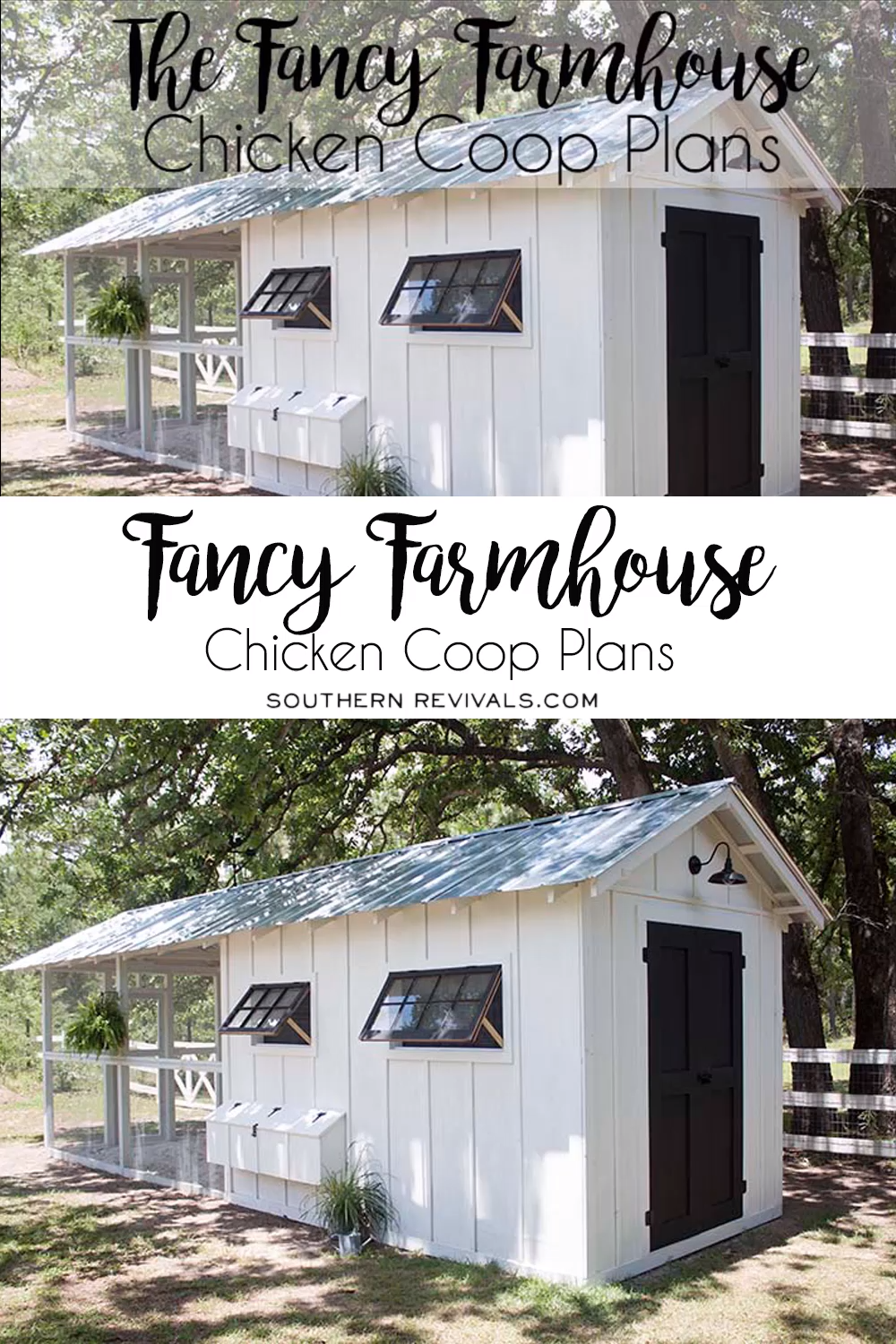 Photo of Fancy Farmhouse Chicken Coop Plans