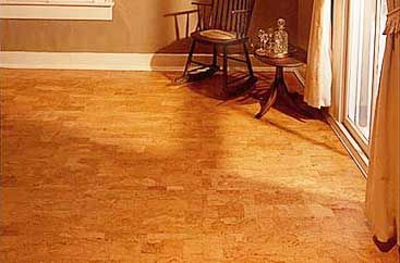 Cork Floor Available In A Variety Of Colors And Patters