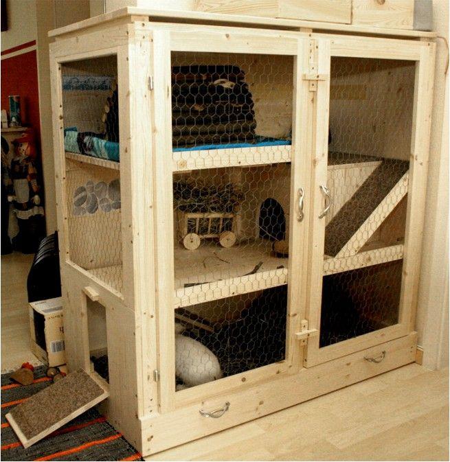 hasenk fig perrine f r zwei kaninchen tiere pinterest kaninchen hasen k fig und. Black Bedroom Furniture Sets. Home Design Ideas