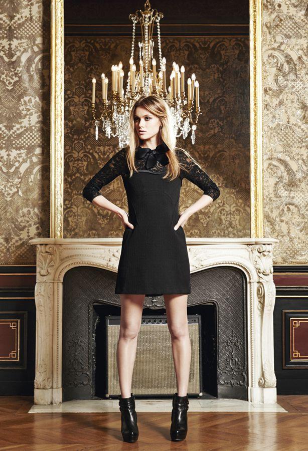 The Kooples Woman FW13 #dress #leather #platform #boots