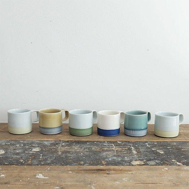 Maudandmabellondon On Instagram 21 08 2015 An Irresistible Collection Of Handmade Espresso Mugs By Derek Wilson Derekwilson Han Mugs Coffee Love Handmade