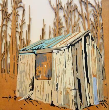 "Saatchi Art Artist Matthew Spencer; Painting, ""Shed"" #art"