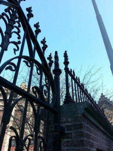 Eisenzaun In #Gent #Gusseisen #Iron #Fence #Belgium #Frühlingstag