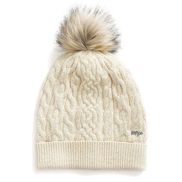 ee9a7f164 Tommy Hilfiger Stadium Knit Hat ($60) ❤ liked on Polyvore featuring ...
