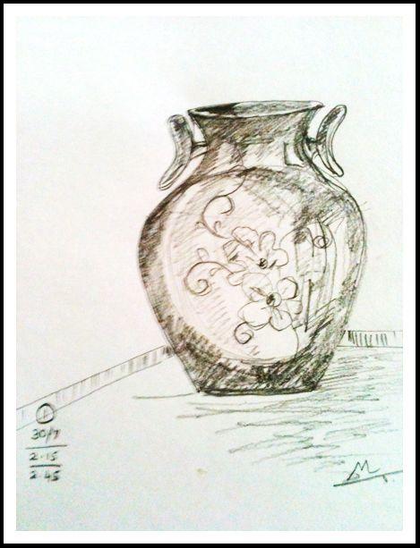 Pencil Sketch Of Flower Vase Doodles And Zentangle Patterns