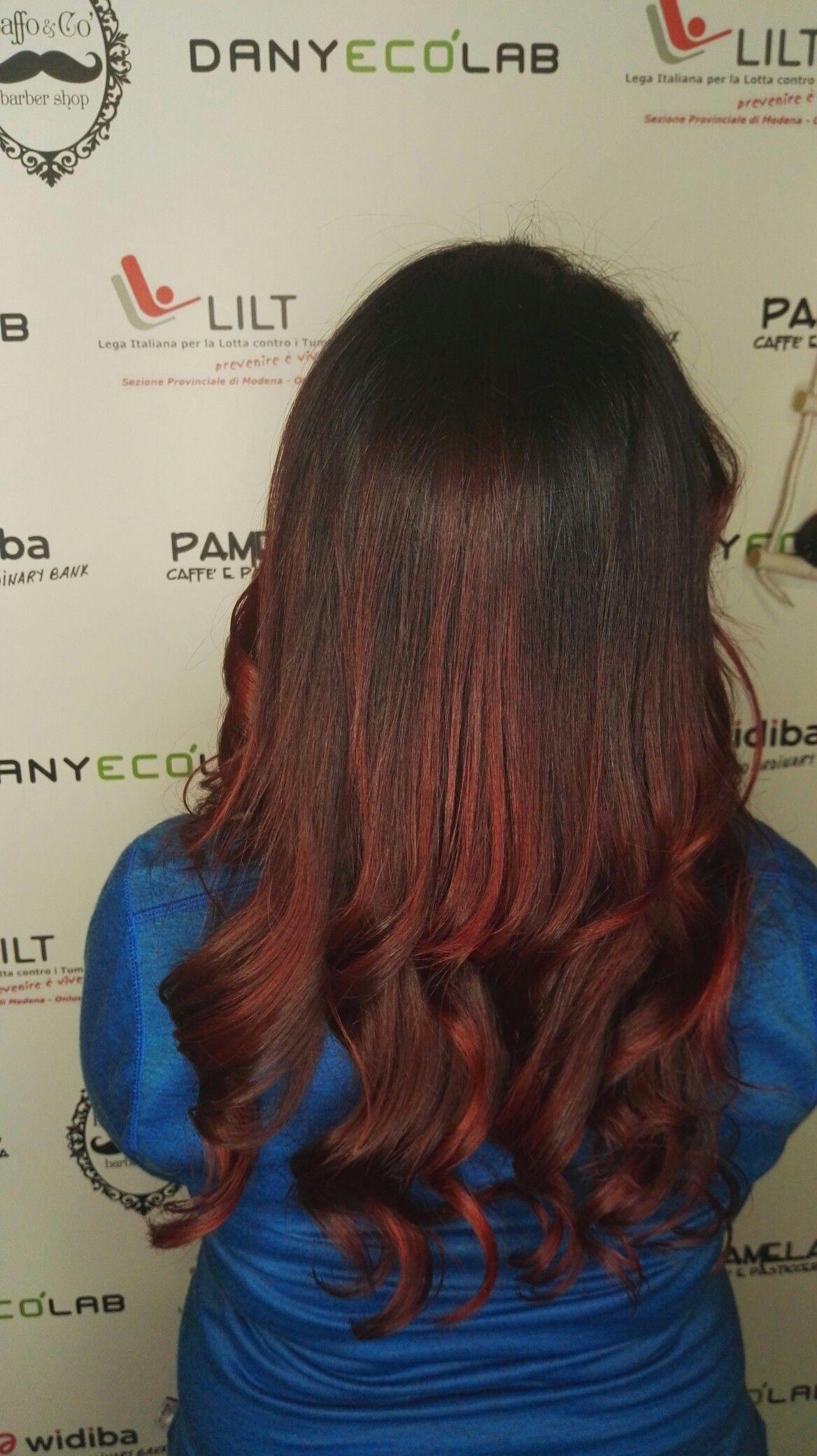 balayage marron glace'-red passion moganodany eco lab | capelli