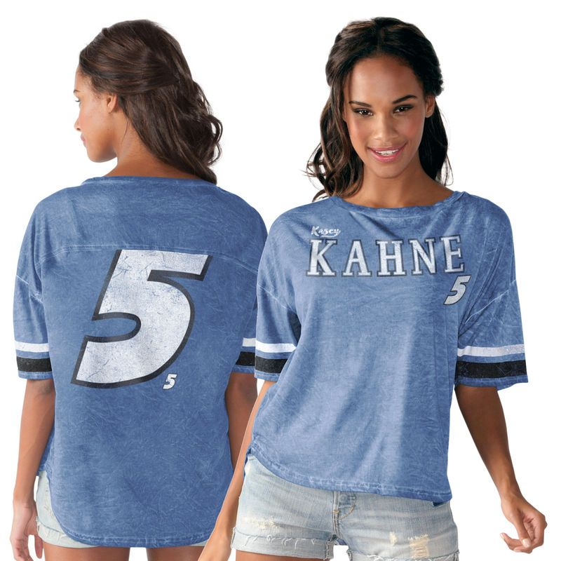 Kasey Kahne Touch by Alyssa Milano Women s Championship Top T-Shirt - Royal 78b3c0132