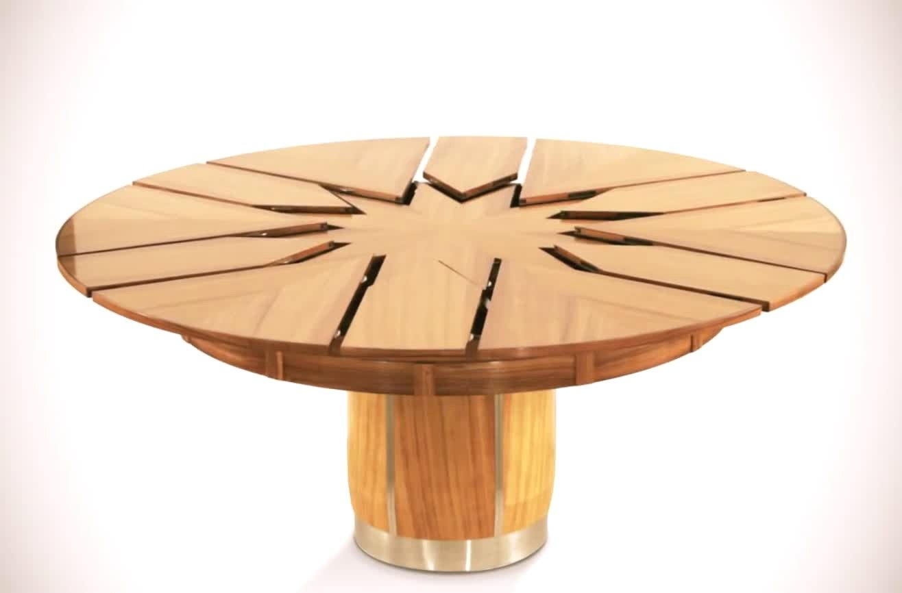extraordinaire table ronde extensible