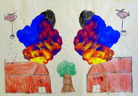 SchoolArtsRoom   Art Education Blog for K-12 Art Teachers: Experimenting with Color: Primary Color Prints