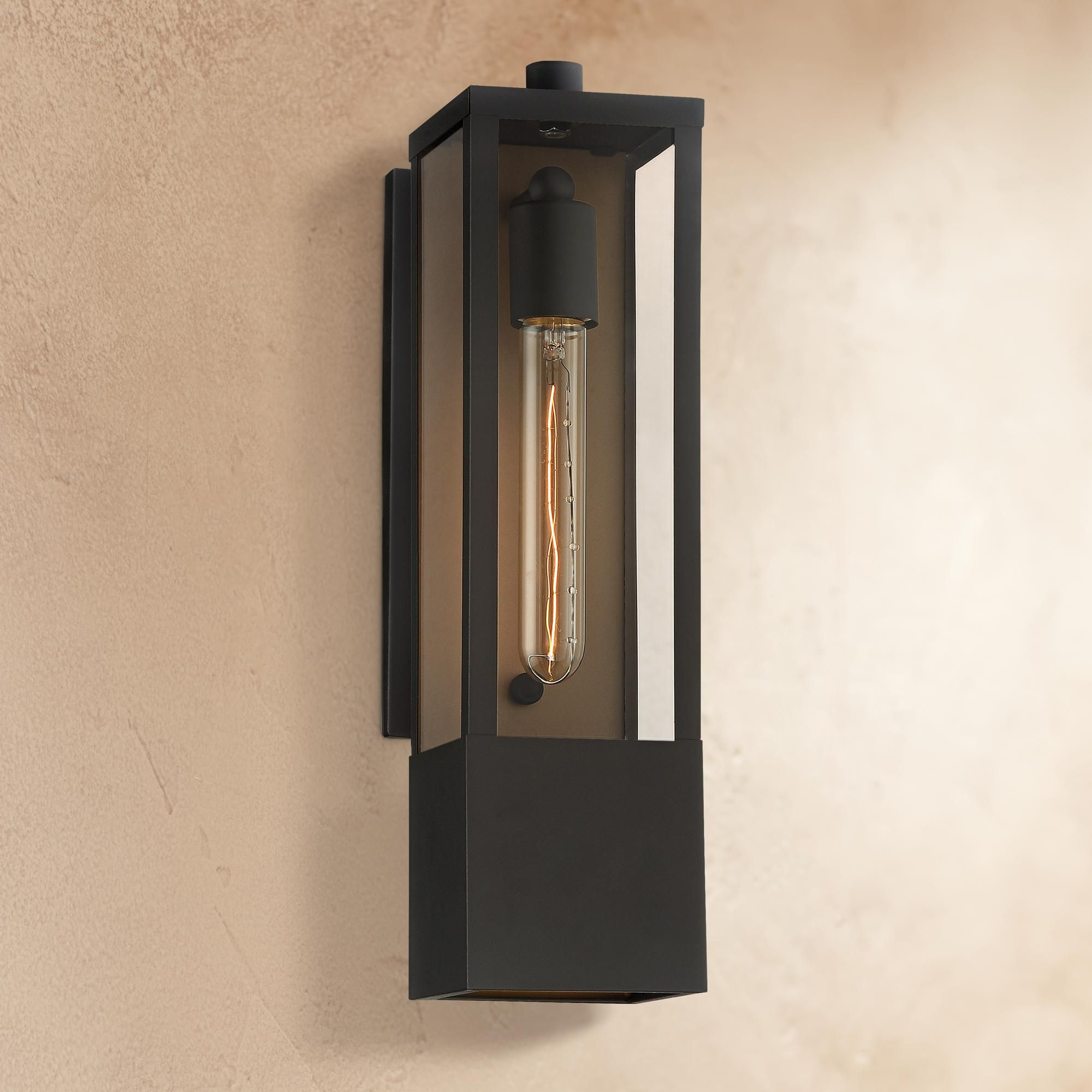 Outdoor Lighting Possini Euro Berk 16 H Black And Gold Box Outdoor Wall Light In 2020 Wall Lights Outdoor Wall Lighting Outdoor Walls