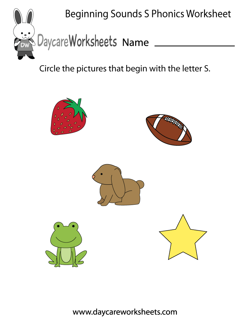 Free Beginning Sounds Letter S Phonics Worksheet For Preschool Phonics Worksheets Preschool Phonics Worksheets Preschool Phonics [ 1035 x 800 Pixel ]